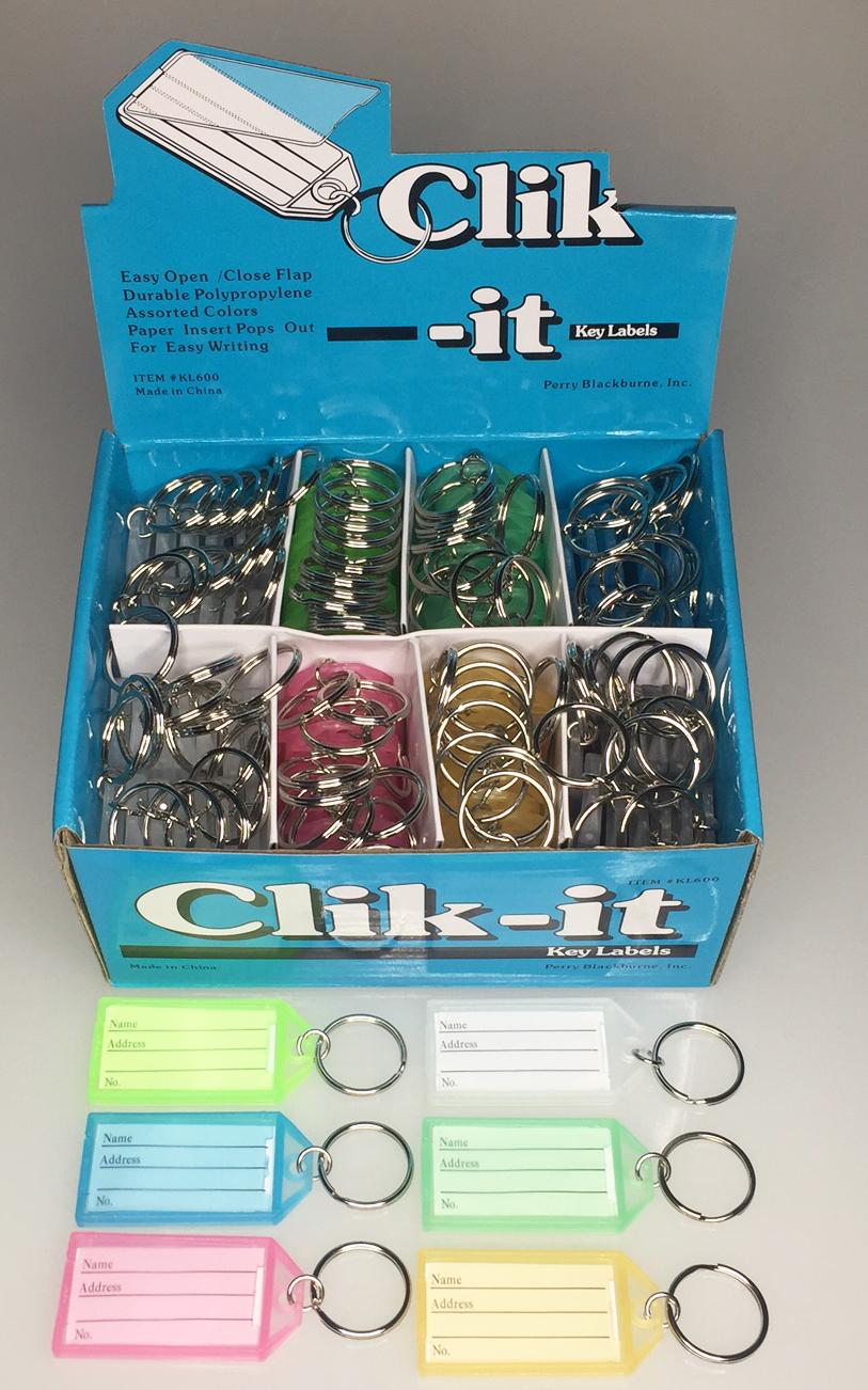 Clik It Key Labels 100 Box