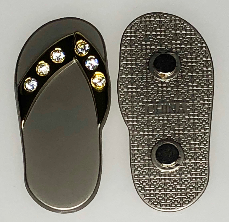 1b71db74a785e5 Two-Tone Flip Flop Magnet w Stones