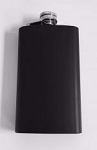 Black Matte Painted Flask - 1/Box