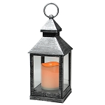 Plastic LED Candle Lantern - Black