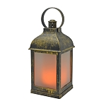 Vintage Antique Brass Plastic Lantern