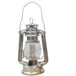 Dimmable Metallic Lantern w/12 LED Lights - Silver