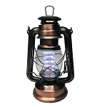 Dimmable Metallic Lantern w/12 LED Lights - Antique Copper
