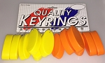 Oval Squeeze Float Key Tag - Assorted Colors - 12/Card
