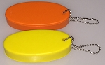 Oval Squeeze Float Key Tag - Assorted Colors - Bulk