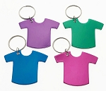 Anodized Aluminum T-Shirt Key Tag - Bulk