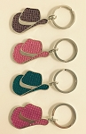 Bling Cowboy Hat Key Tag - Bulk