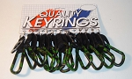 Camouflage Carabiner - Hunting Pattern w/Bottle Holder Strap - 12/Card