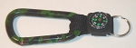 Camouflage Carabiner - Hunting Pattern w/Compass Strap - Bulk