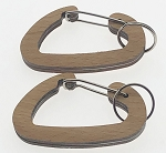 Wood Carabiner w/Split Ring