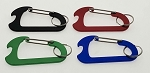 Carabiner w/Bottle Opener and Split Ring - Bulk