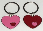 Double Heart Key Tag - Bulk