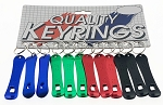 Anodized Aluminum Snowboard Bottle Opener Key Tag - 12/Card