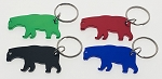 Small Bear Anodized Aluminum Bottle Opener Key Tag - Bulk