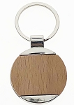 Fancy Wood Circle Key Tag - Bulk