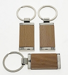 Fancy Wood Rectangle Key Tag - Bulk
