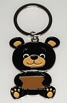 Sitting Teddy Bear Key Tag - Bulk