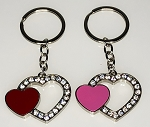 Open Heart w/Stones Key Tag - Bulk