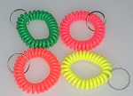 Wrist Coil w/Split RIng - Neon Colors - Bulk