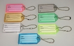 Transparent Key Label w/Bead Chain - 100/Bag