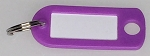 Key Labels w/Split Ring - PURPLE ONLY - 50/Bag