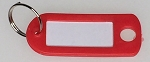 Key Labels w/Split Ring - RED ONLY - 50/Bag