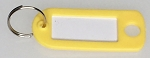 Key Labels w/Split Ring - YELLOW ONLY - 50/Bag