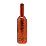 Flameless Wine Bottle w/LED String Lights - Metallic Copper