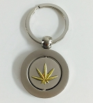 Marijuana Leaf Spinner Key Tag - Bulk