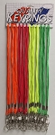 Lanyards - Cord Style - Neon Colors - 24/Card