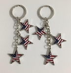 Patriotic Dangling Star Key Tag - Bulk