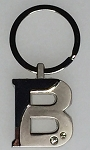Two-Tone Initial Key Tag - B - 1/Poly Bag