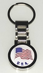 Watchband Key Tag w/USA Flag - Bulk