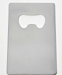 Credit Card Shape Bottle Opener - Silver