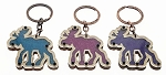 Wood Moose Key Tag - Bulk
