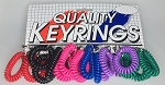 Wrist Coil w/Key Ring - Regular Colors - 24/Card