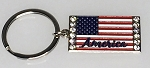 USA Flag Key Tag w/12 Stones - Bulk