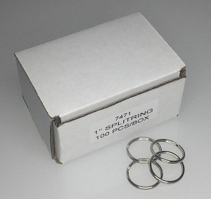 "Split Rings - 1"" - 100/Box"
