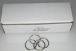 "Split Rings - 1 1/4"" - 100/Box"