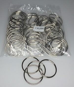 "Split Rings - 2"" - 50/Bag"