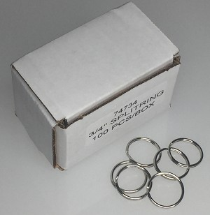 "Split Rings - 3/4"" - 100/Box"