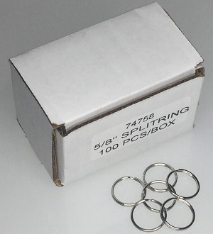 "Split RIngs - 5/8"" - 100/Box"