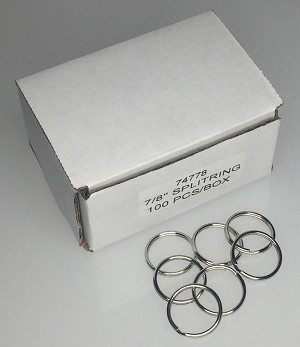 "Split Rings - 7/8"" - 100/Box"