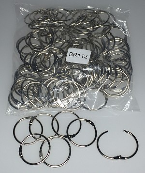 "Binder Rings - 1 1/2"" - 100/Bag"