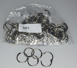 "Binder Rings - 1"" - 100/Bag"
