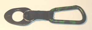 Camouflage Carabiner - Hunting Pattern w/Bottle Holder Strap - Bulk