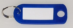 Key Labels w/Split Ring - DARK BLUE ONLY - 50/Bag