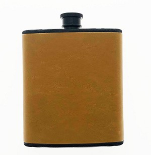 Plastic Leather Wrapped Flask