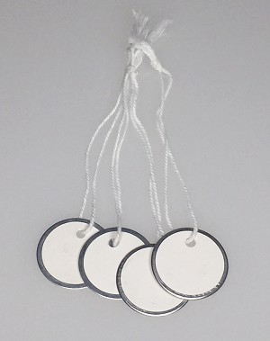 "Paper Tag w/String - 1 1/4"" - 100/Bag"