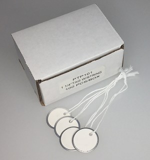"Paper Tag w/String - 1 1/4"" - 100/Box"